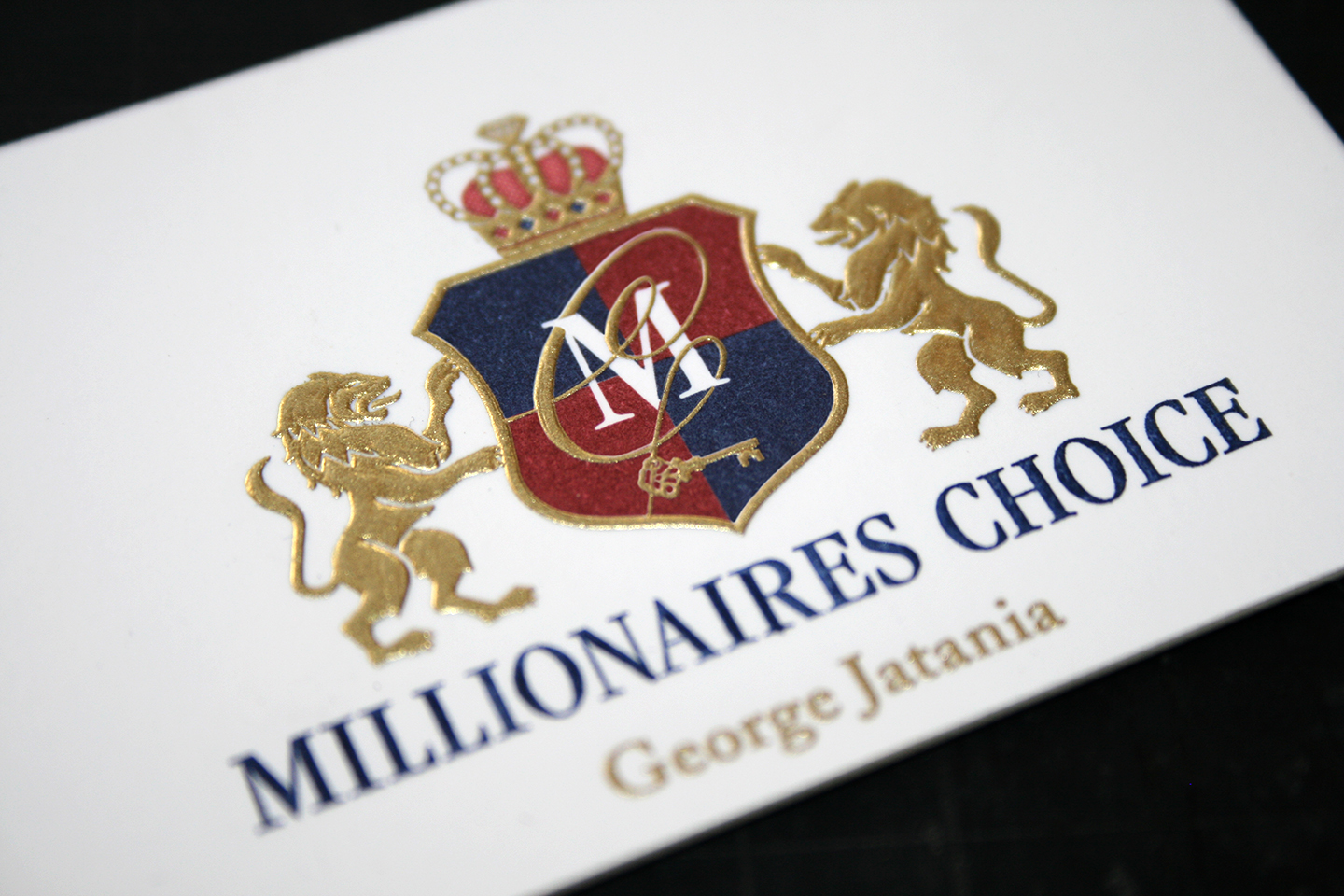 millionaires choice business card